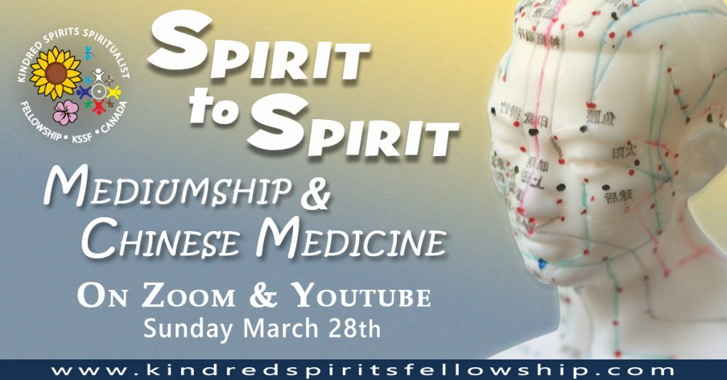 image with event Title Spirit To Spirit, Mediumship & Chinese Medicine on Zoom and Youbute Sunday March 28th 2021